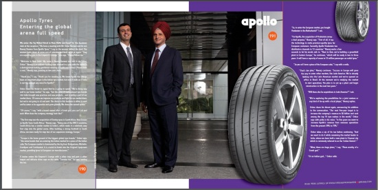 Apollo Tyres - Entering the global arena - CoolBrands Around the World in 80 Brands