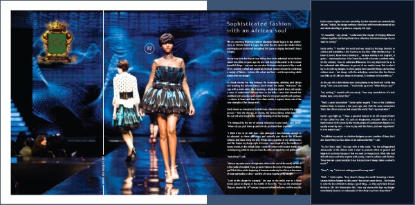Deola Sagoe - Sophisticated Fashion with an African Soul - CoolBrands - Around the World in 80 Brands