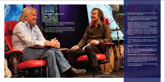 Meeting Richard Branson at TED - Around the World in 80 Brands