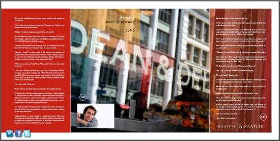 Meeting Mark Sherwood from Saatchi & Saatchi in SoHo - CoolBrands Around the World in 80 Brands