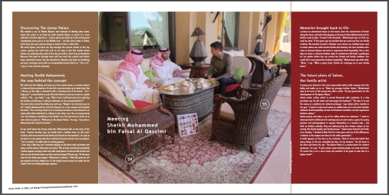 Meeting Sheikh Mohammed bin Faisal Al Qassimi in The Ajman Palace - CoolBrands Around the World in 80 Brands