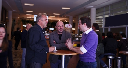 The Food innovators from Enivrance - Edouard Malbois, Jacques Faure and Diego Ruzzarin.