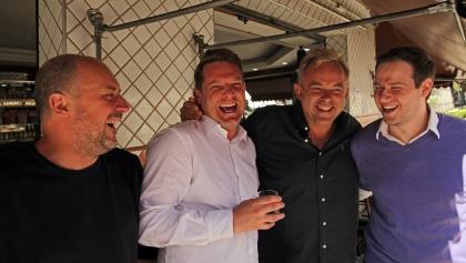 Enivrance meeting David Hertz - Jacques Faure, David Hertz, Edouard Malbois and Diego Ruzzarin,