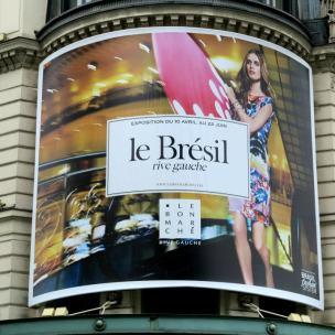 At Le Bon Marché Rive Gauche in Paris we spot the expo ''le Brésil rive gauche'