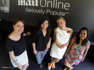 "Senta Slingerland (left), Co-organiser of ""See It Be It"", with participants Stefani DiGianvincenzo, Celeste Dalairac and Biba R. Cabuquit"