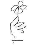 Flower sketch by Oscar Niemeyer