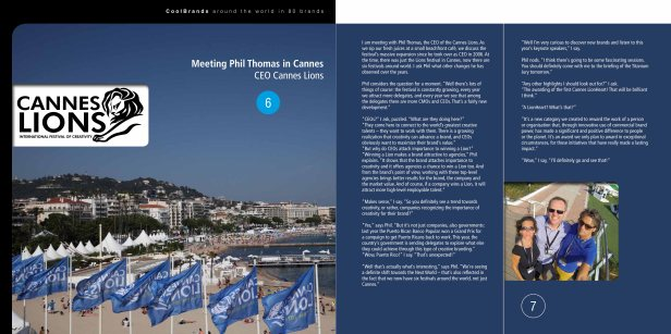 Meeting Phil Thomas, CEO of Cannes Lions - Around the World in 80 Brands