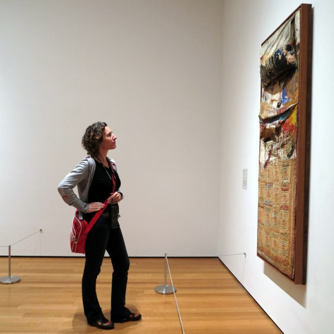 Anouk Pappers in MOMA New York