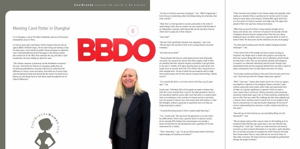 Meeting Carol Potter BBDO Asia  for Around The World in 80 Brands